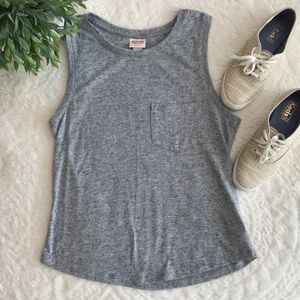 Mossimo Grey Tank Top with Pocket